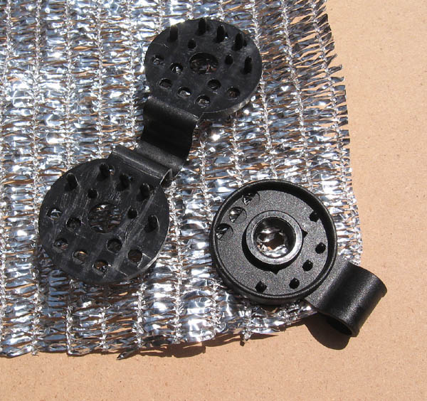Our durable, reusable plastic grommets for both fabrics