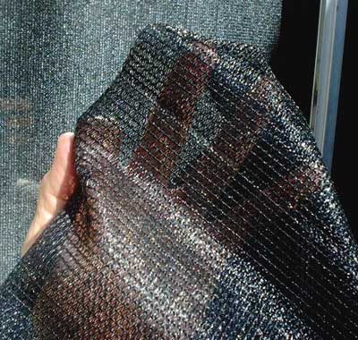 Solar Heating Drape fabric closeup