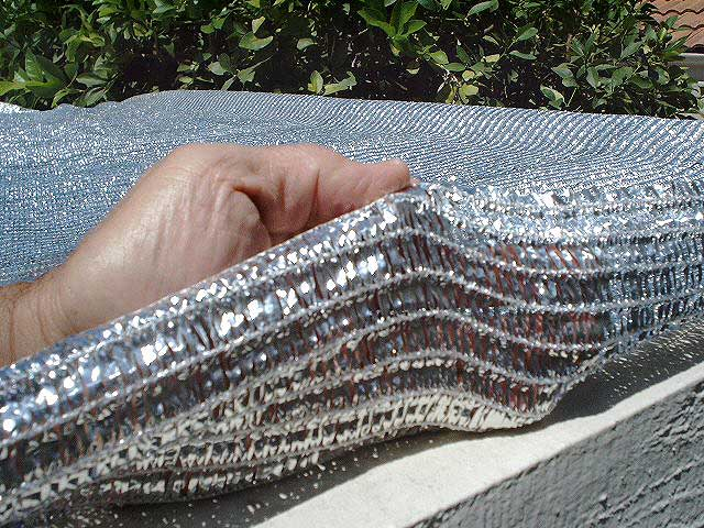 SolarFlex Thermal/wind barrier fabric closeup